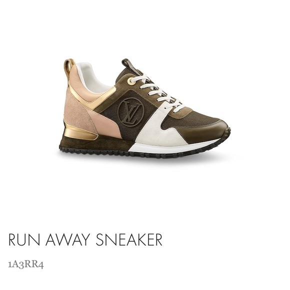 72b762b6dc9 ISO - Louis Vuitton Kaki Run Away Sneakers Sz 38